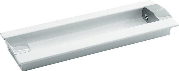 REF. 253 BRANCO - Puxador Concha Embutir com ponteiras Cromadas