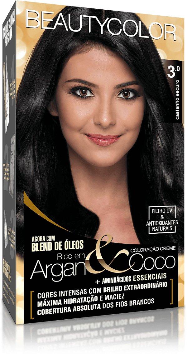 Tintura permanente beauty color 3.0 castanho escuro