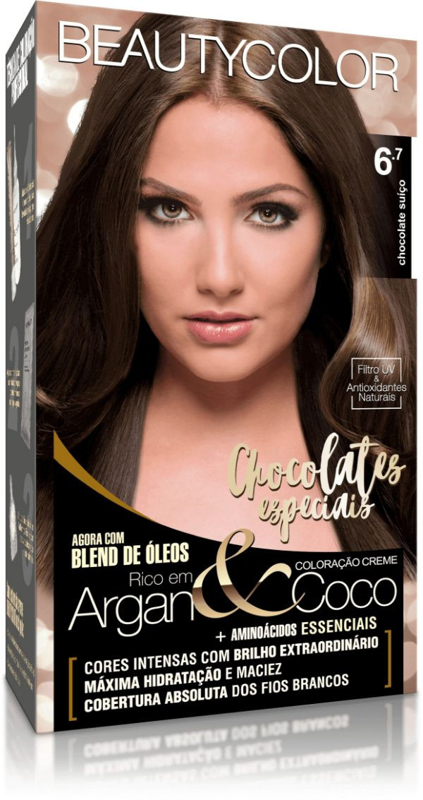 Tintura permanente beauty color 6.7 chocolate suiço