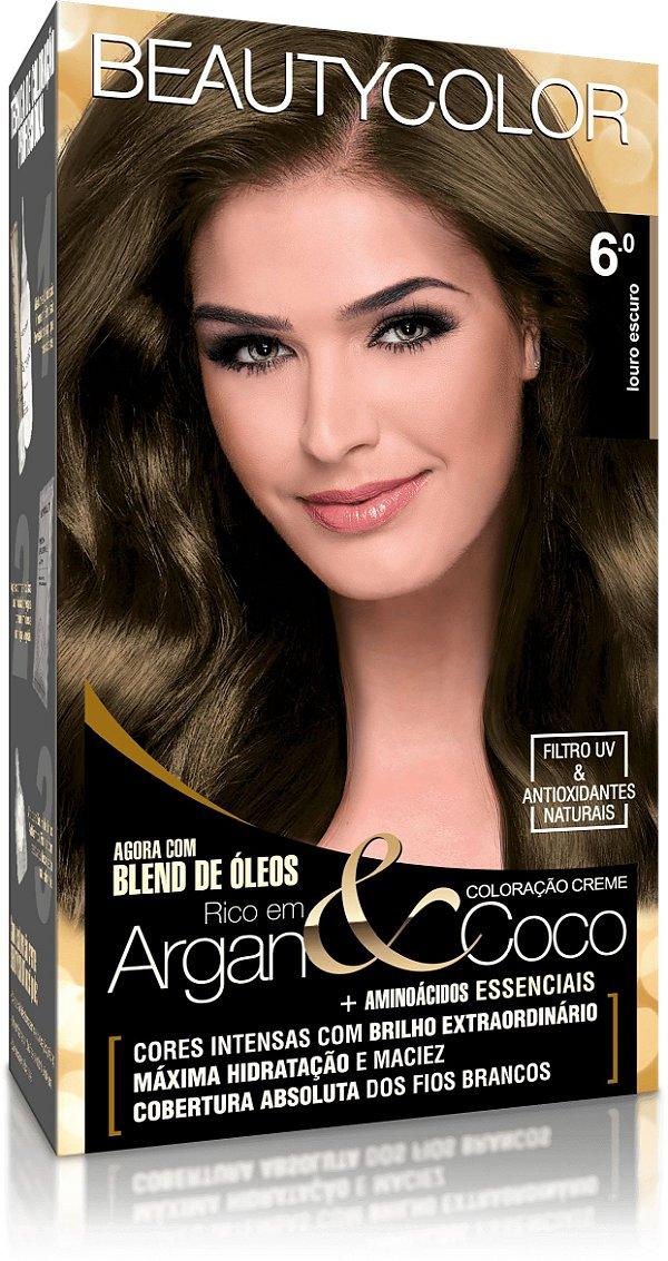 Tintura permanente beauty color 6.0 louro escuro