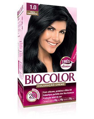 Tintura permanente biocolor 1.0 preto fundamental