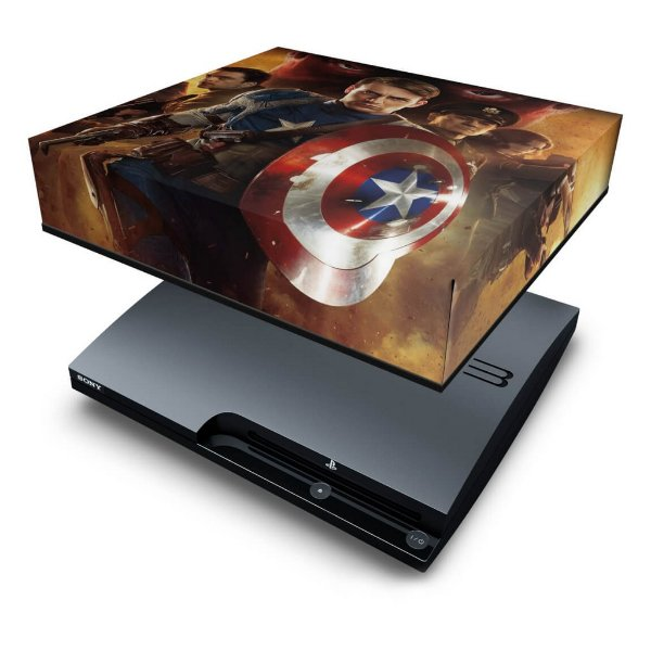 PS3 Slim Capa Anti Poeira - Capitao America