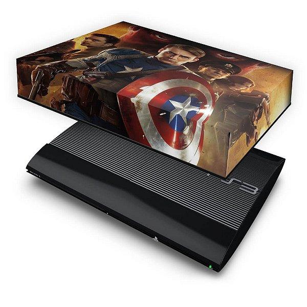 PS3 Super Slim Capa Anti Poeira - Capitao America