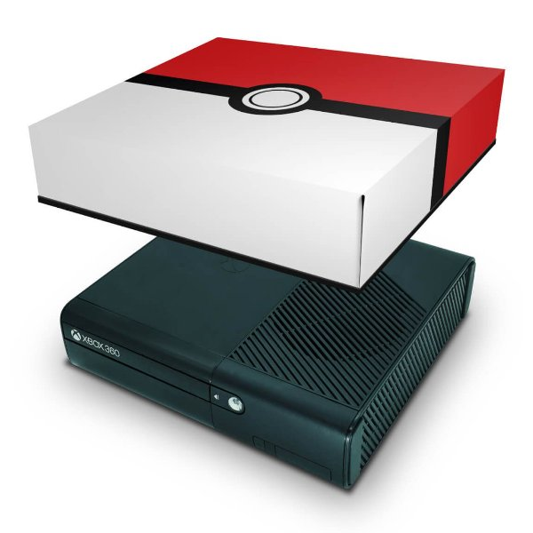 Xbox 360 Super Slim Capa Anti Poeira - Pokemon Pokebola