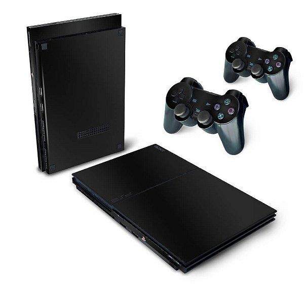 PS2 Slim Skin - Preto Black Piano