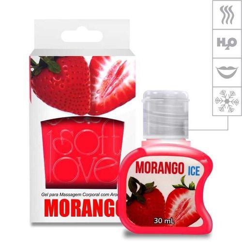 Gel Comestível Ice 30ml Soft Love Morango