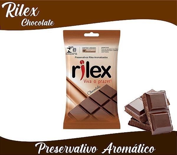 PRESERVATIVO MASCULINO CHOCOLATE COM 3 UNID. RILEX