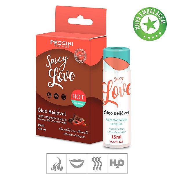 Gel Beijável Spicy Love Hot 15ml- Chocolate c/ Pimenta