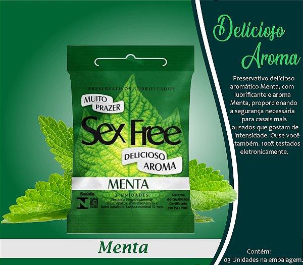 PRESERVATIVO MASCULINO MENTA 3 UNID. SEX FREE