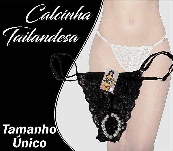 CALCINHA TAILANDESA TAMANHO ÚNICO PRETO