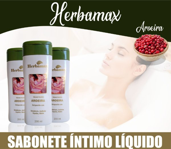 Sabonete Íntimo Herbamax Aroeira 200ml