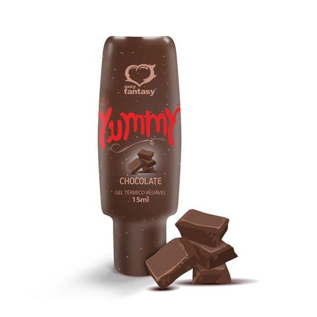 Gel Térmico Comestível Yummy 15ml Sexy Fantasy Chocolate