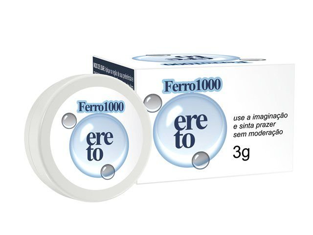 POMADA FERRO 1000 ERETO GEL MASCULINO 3G