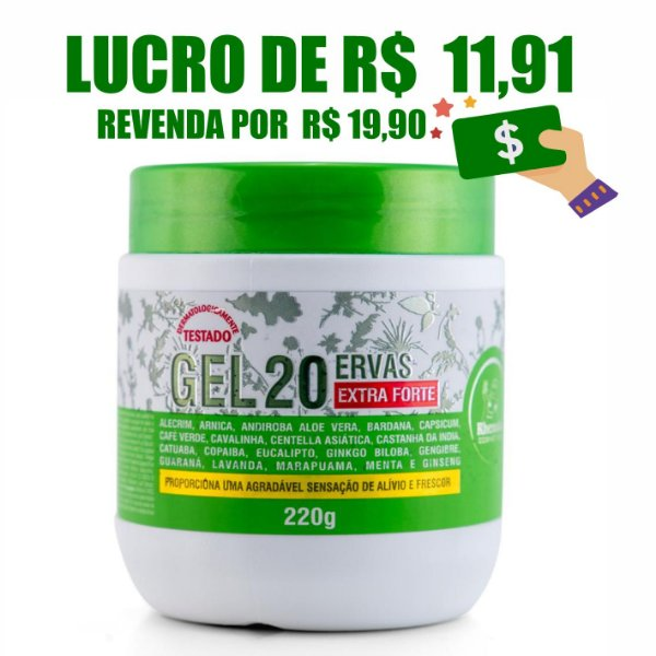 Gel 20 Ervas  Dor Muscular 220 G