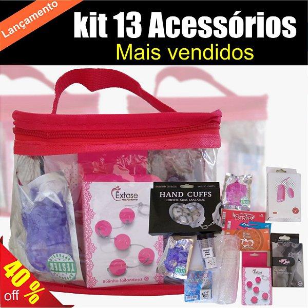 Kit 13 Acessórios Sex Shop