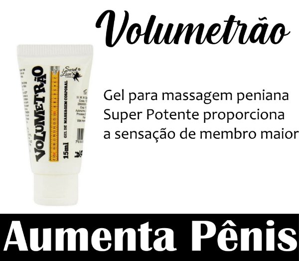 VOLUMETRÃO INCHA PÊNIS 15ML SECRET LOVE (VEG42)