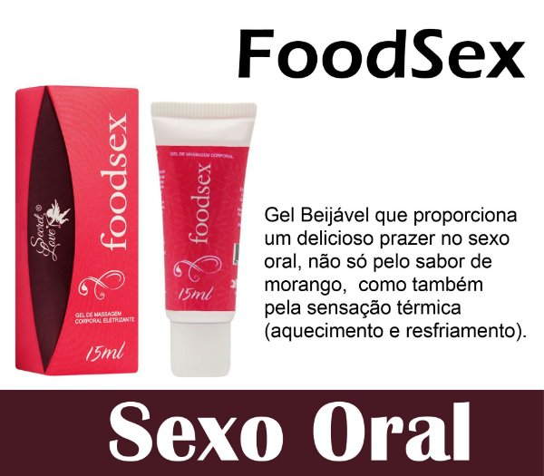 FOODSEX GEL BEIJÁVEL HOT ICE 15ML SECRET LOVE (VEG3)