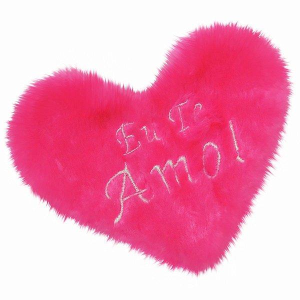 Estojo De Pelúcia Formato Coração Brasil Fetiche Rosa
