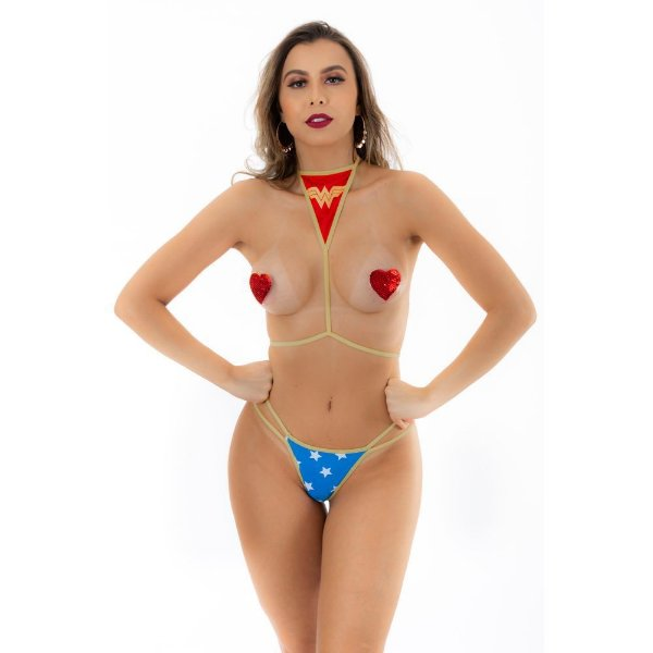 Mini Fantasia Pimentinha Mulher Maravilha Pimenta Sexy