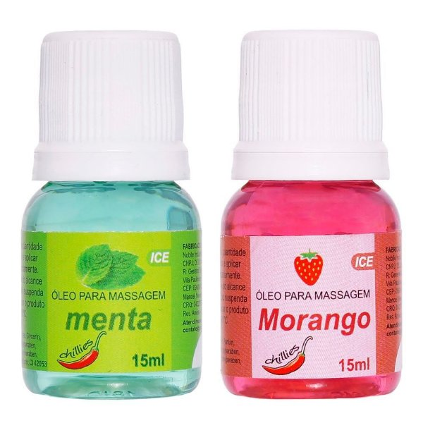 óleo Comestível Ice 15ml Chillies MORANGO