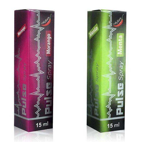 Vibrador Líquido Pulse Spray Beijável 15ml Chillies MENTA
