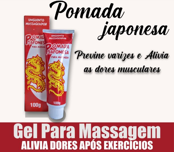 Pomada Japonesa Para Massagem 100g