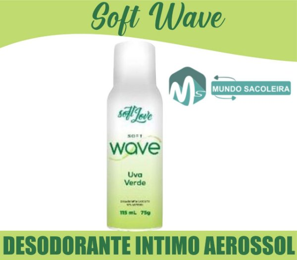 Desodorante íntimo Aerosol Soft Wave 115ml Soft Love UVA VERDE