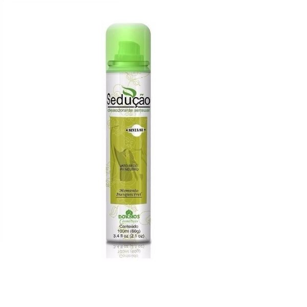 Desodorante íntimo Aerosol Sedução Permita-se 100ml Dokmos  Verde