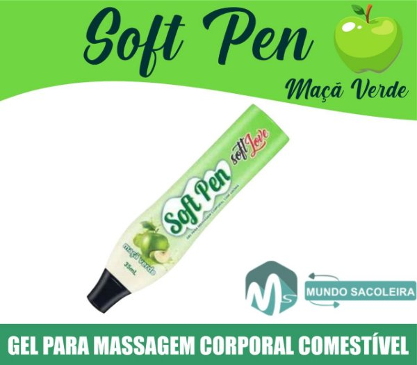 Caneta Comestível Soft Pen 35ml Soft Love MAÇÃ VERDE