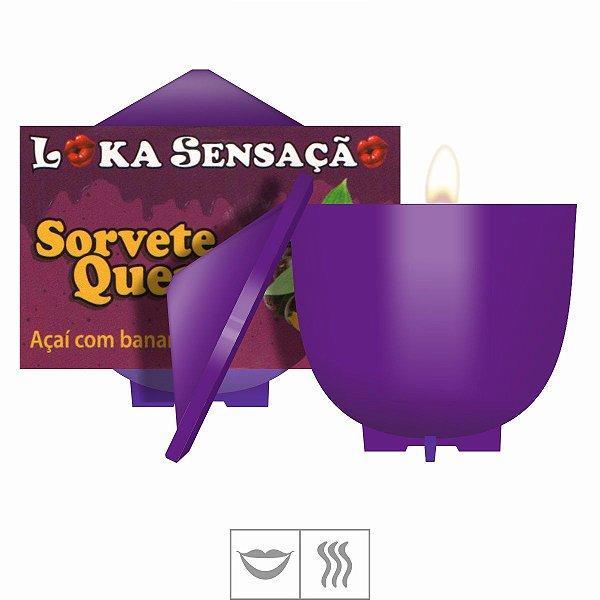 Vela Comestível Sorvete Quente 30g Loka Sensação-Açaí c/ banana