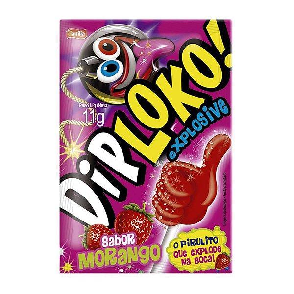 Pirulito Explosive Dip Loko 11g Danilla morango