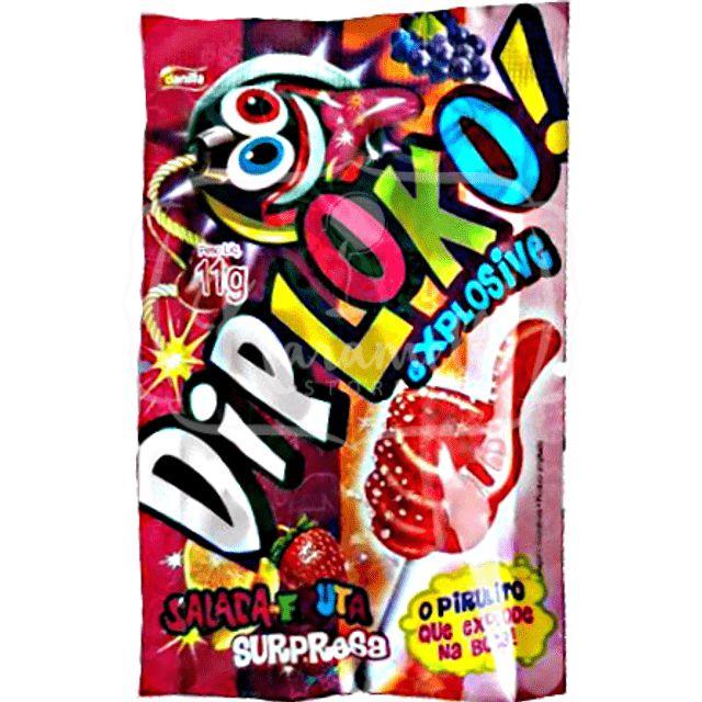 Pirulito Explosive Dip Loko 11g Danilla Salada de fruta