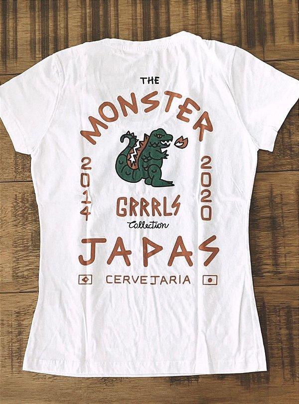 Camiseta Gojaira - Baby look - Branca