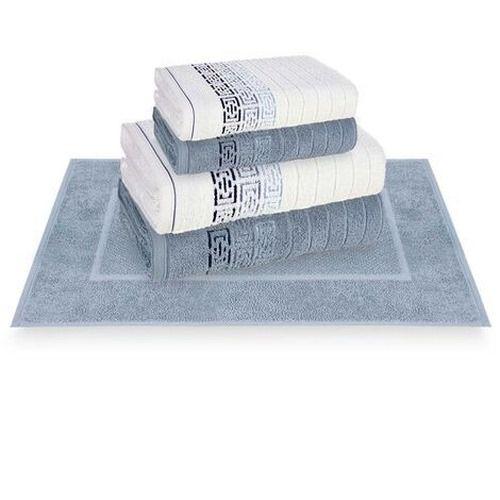 Toalhas Barcelos Karsten Banhão e Rosto - Allure/Azul - Tam Banhão 86cm x 1,50m e Rosto 48cm x 80cm - Gramatura 500g/m2