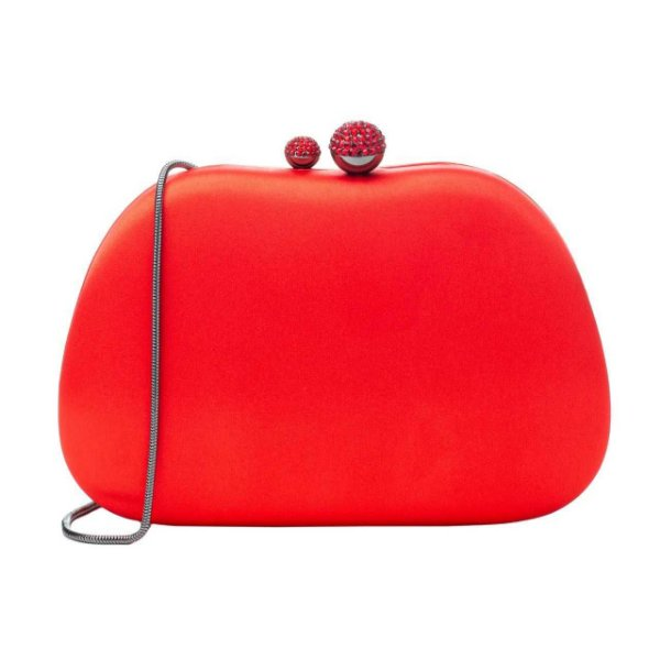Bolsa Clutch Abaulada Cetim Vermelho