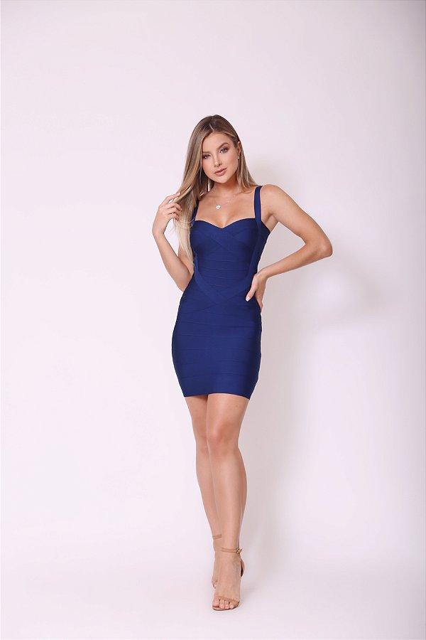 Vestido Curto Bruna Azul Marinho