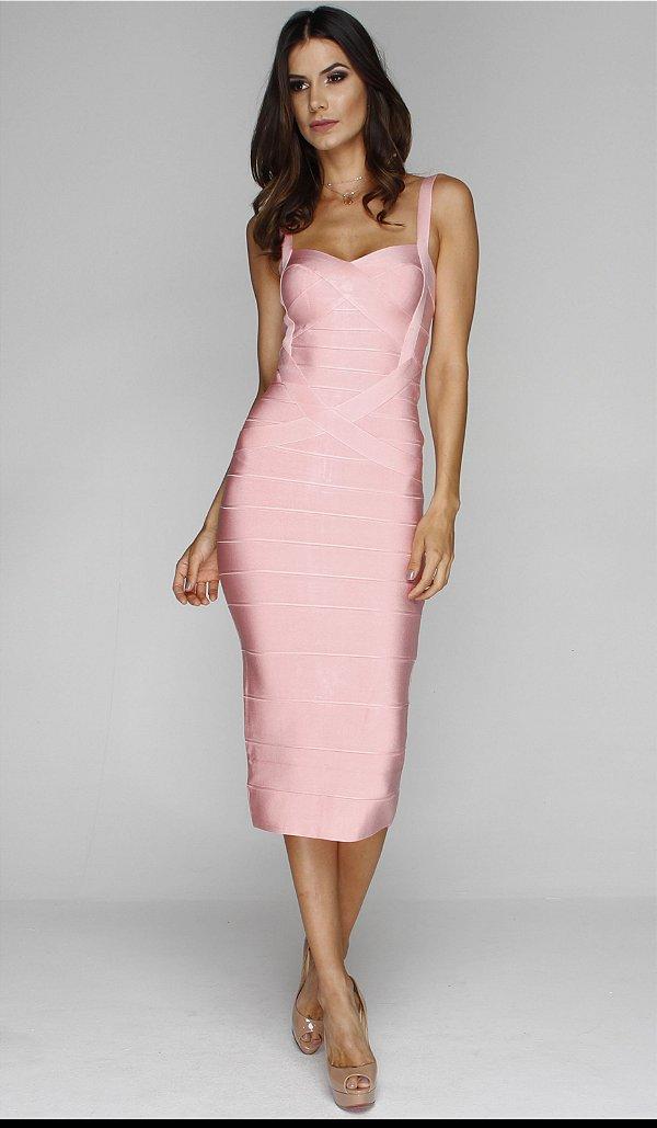 Vestido Midi Bruna Rosa