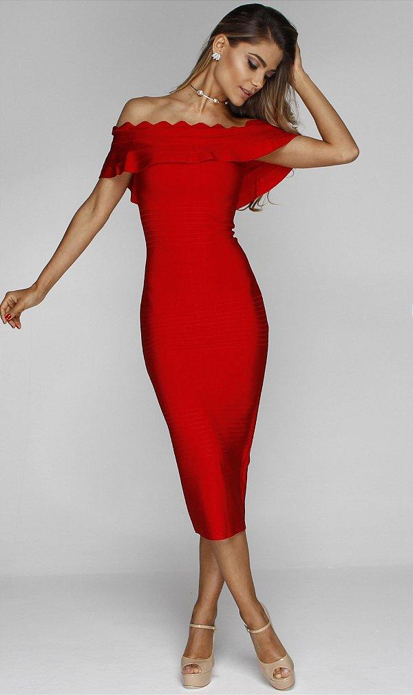 Vestido Midi Hillary Vermelho