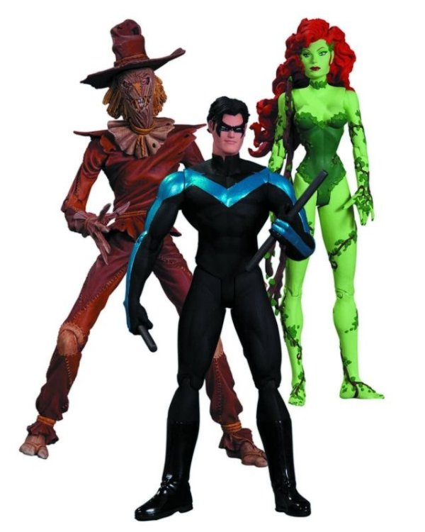 Poison Ivy + Nightwing + Scarecrow - Batman Hush Pack 03 figuras DC Collectibles