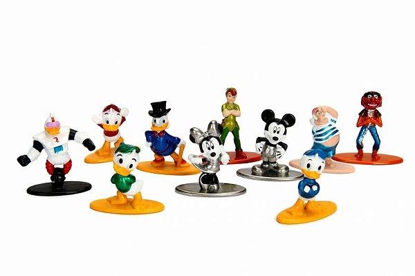 Kit Disney - Nano Metalfigs Diecast Metal Pack c/ 10 peças