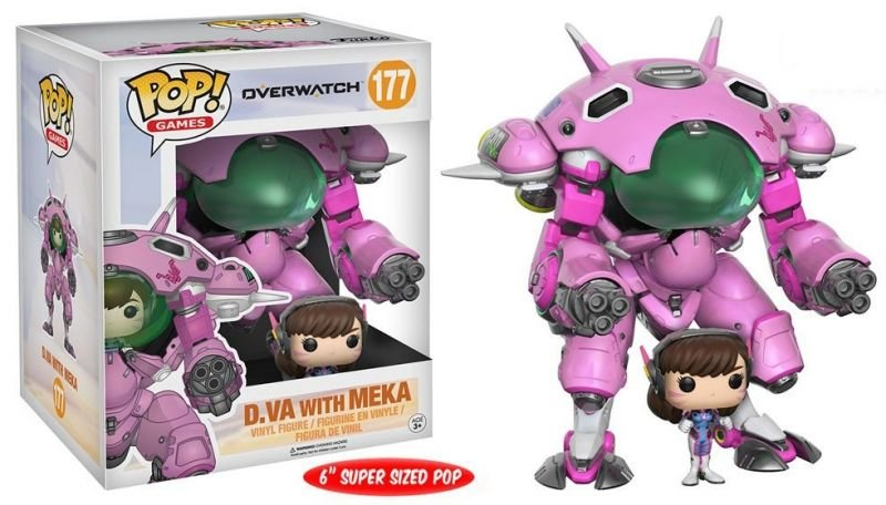D.Va e Mech - Overwatch Super Sized Funko Pop Games