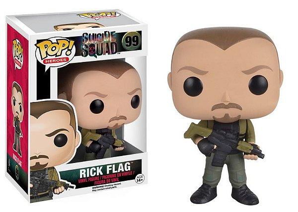 Rick Flag Suicide Squad Esquadrão Suicida Funko Pop Heroes