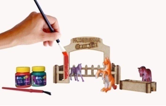 Mini Fazendinha (Montar e Pintar) - I9 Brinquedos