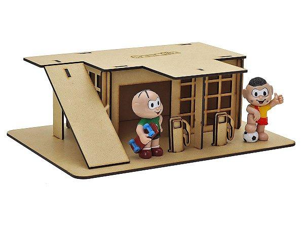 Postinho de Gasolina Cascão e Cebolinha (Montar e Pintar) - I9 Brinquedos