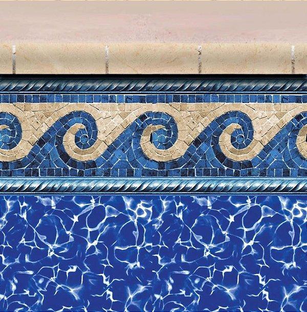 Faixa Adesiva de Piscina 2m x 20cm Design Waves