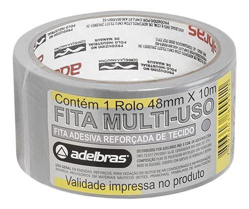 Fita Silver Tape Adelbras 48mmx10m