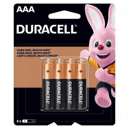 Pilha Alcalina Duracell AAA c/ 8