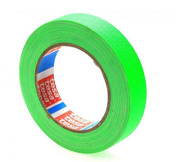 Fita Tecido Gaffer Verde Fluor 2,4cm x 25m