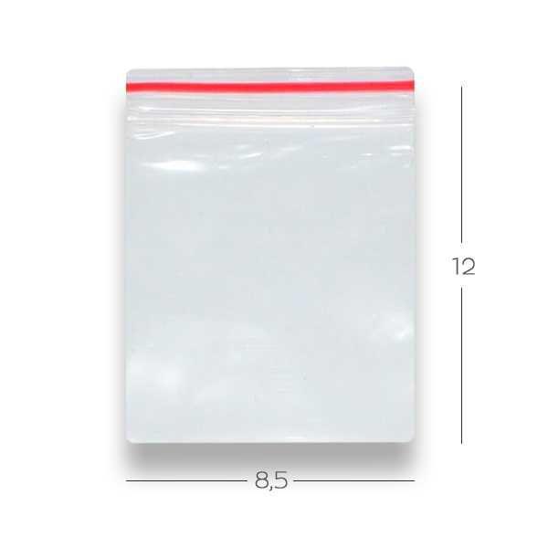 Saco Ziplock N4 8,5cmx12cm c/ 100