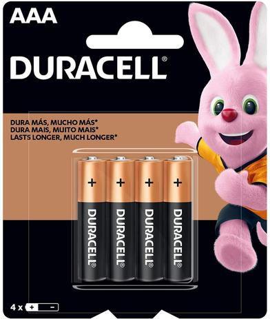 Pilha Alcalina Duracell AAA c/ 4